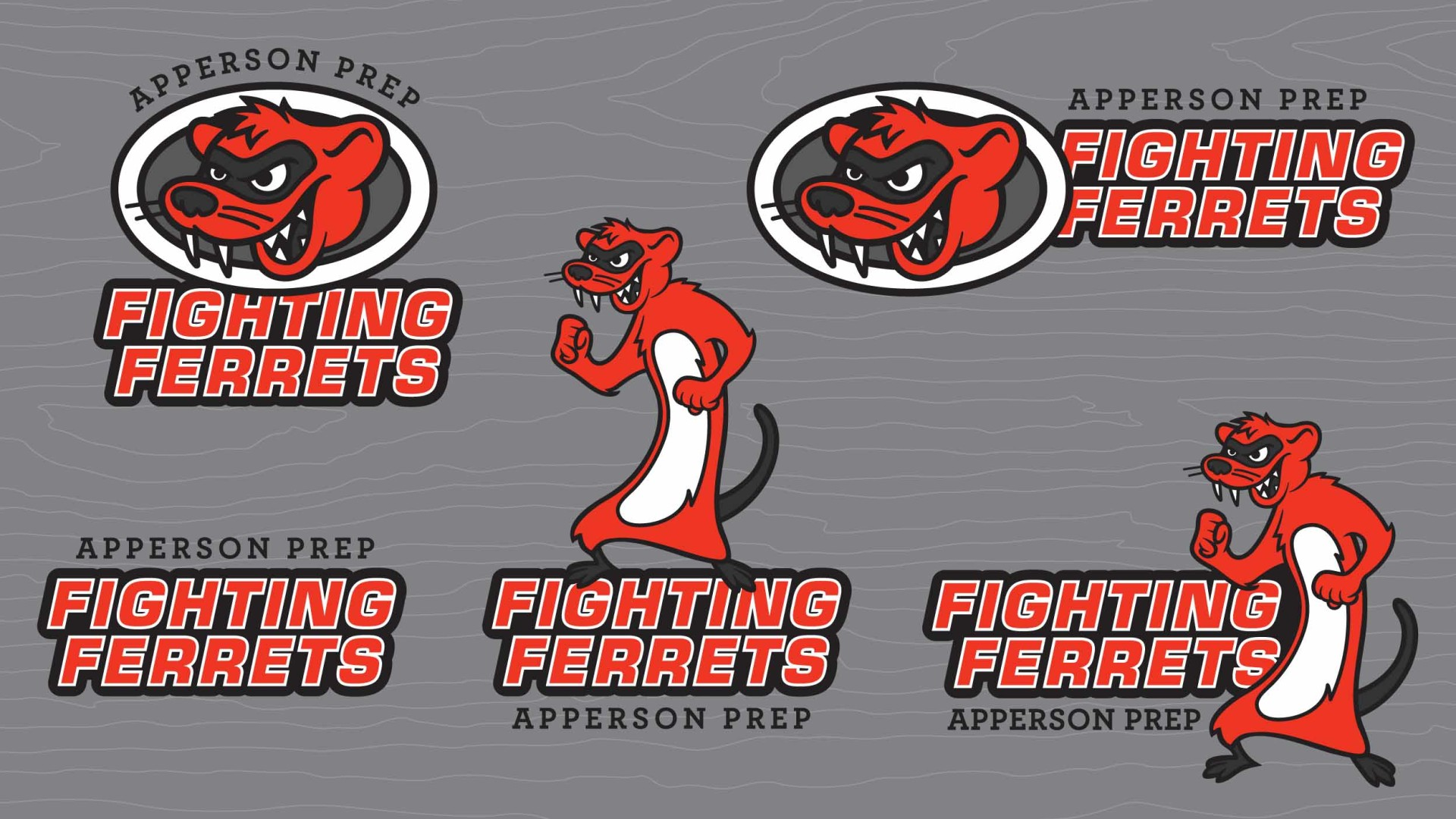 Apperson Prep Mascot Logo Variations