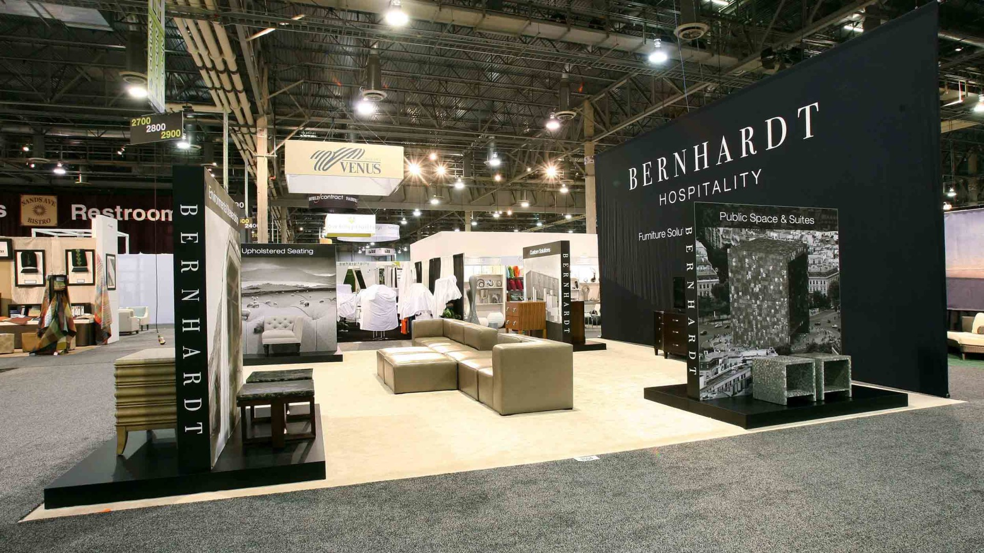 Right Side View of Bernhardt Hospitality Exhibit