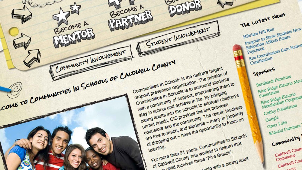 Communities in Schools of Caldwell County Website Relaunch