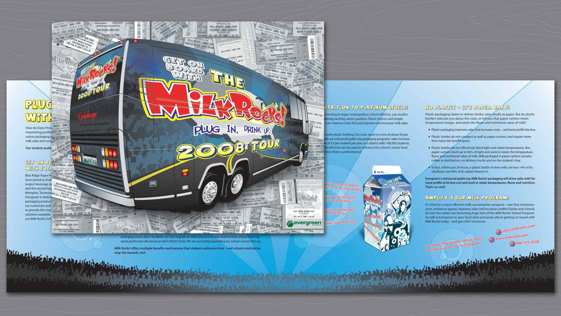 View of the Milk Rocks! Direct Mail Brochure