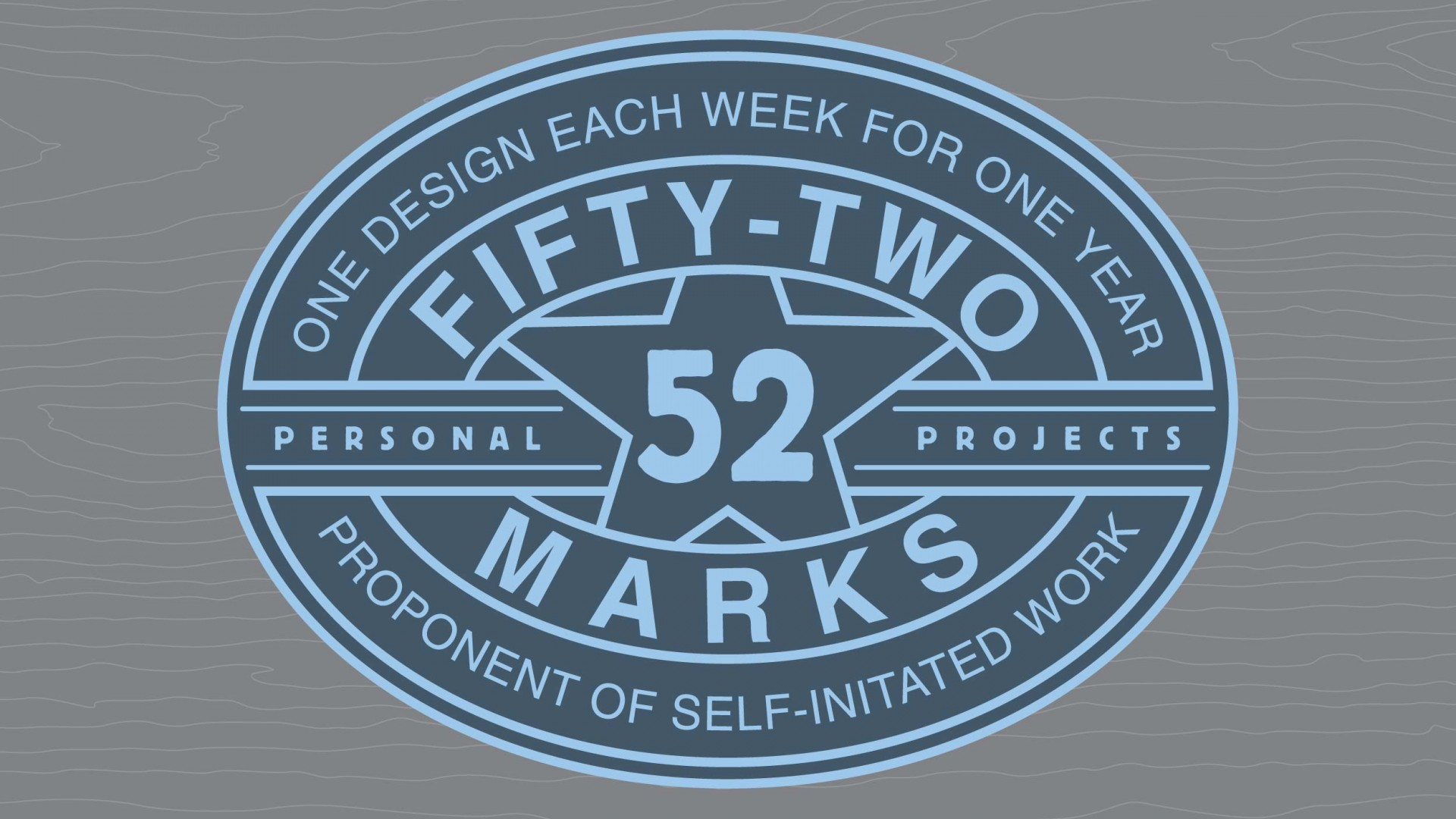 Main logo for my 52 Marks personal project.