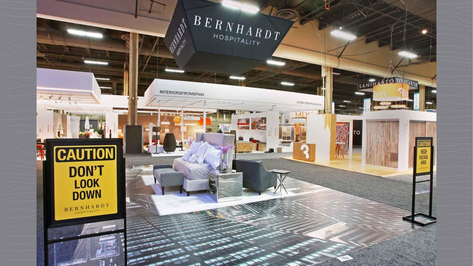 Bernhardt Hospitality Transcending to New Heights Exhibit, final floor.