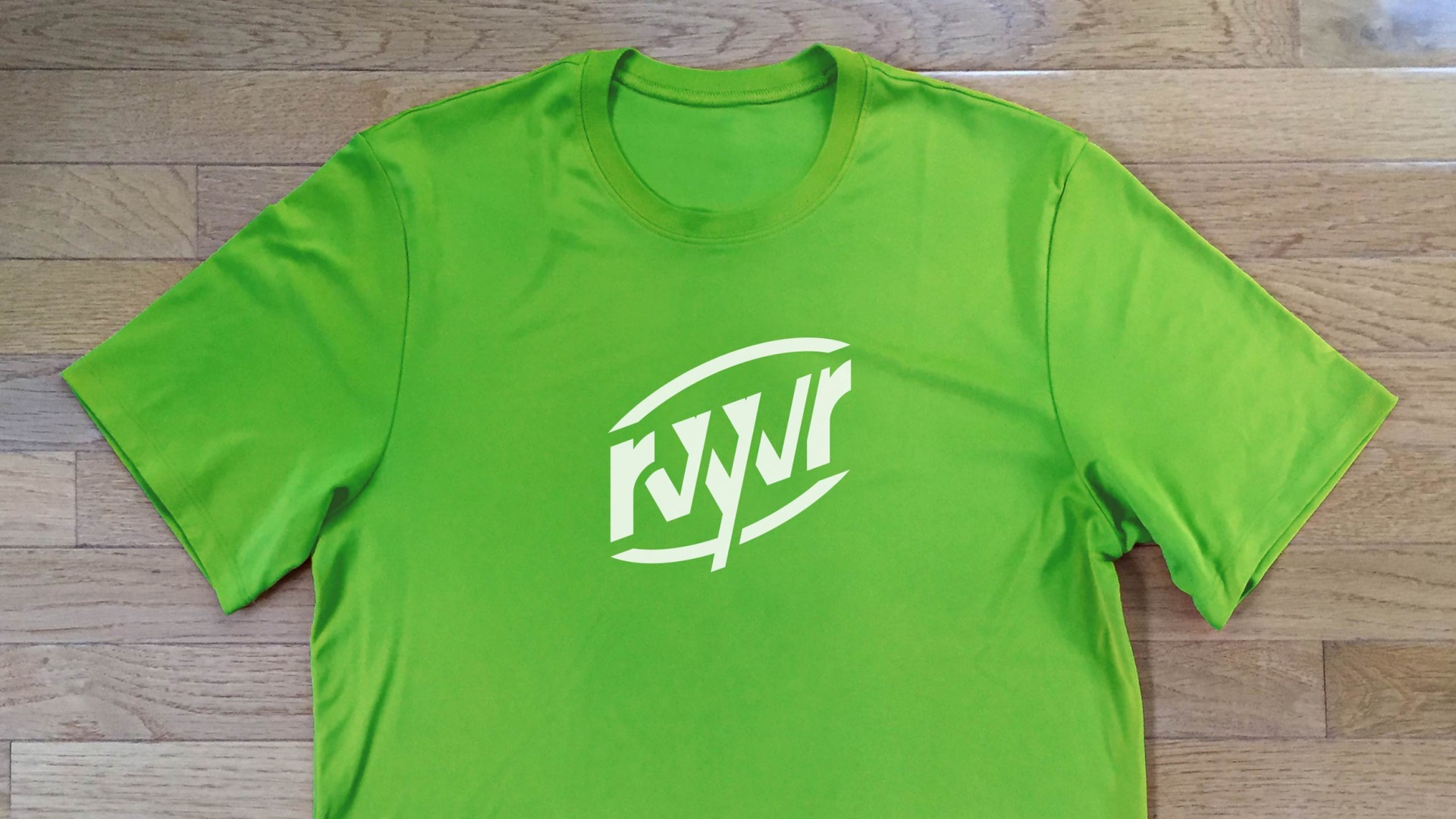 Branded dry fit exercise shirt for RVYVR.
