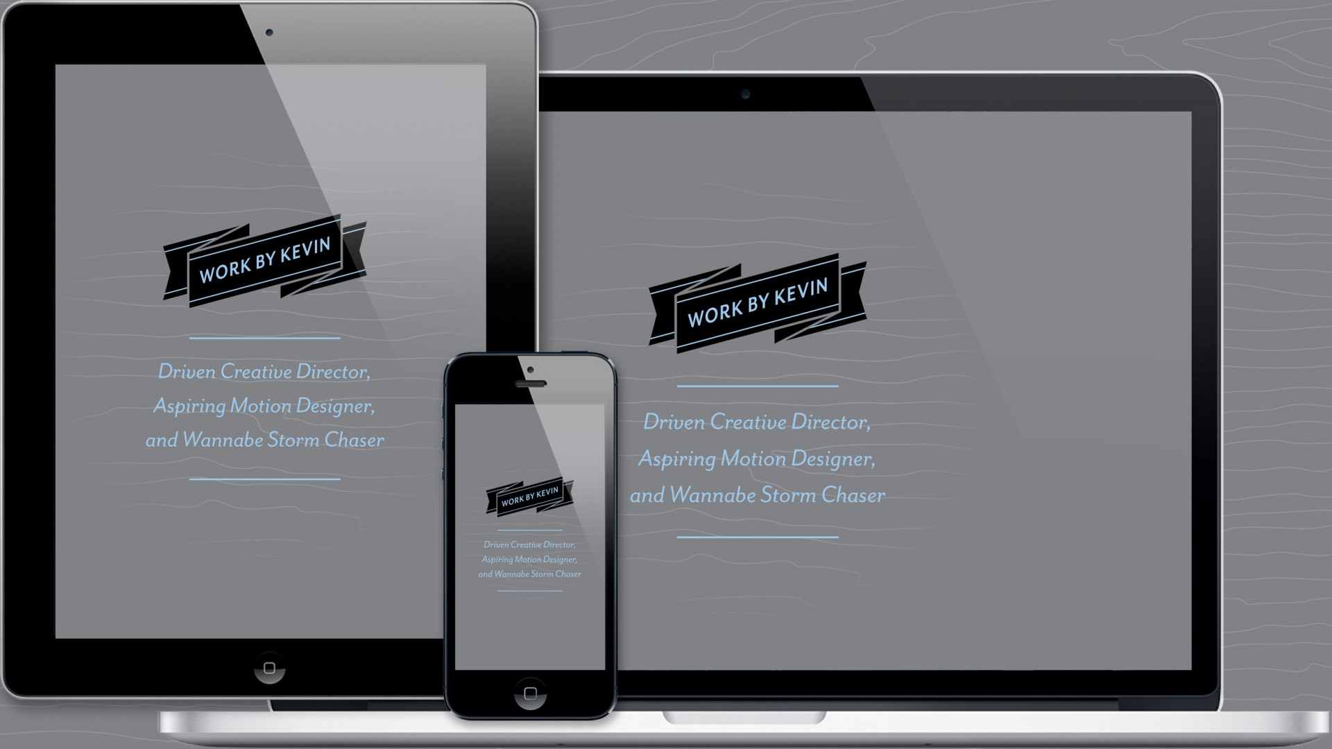 Work By Kevin band evolution responsive website, landing page.